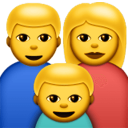 Family emoji png. For facebook email sms