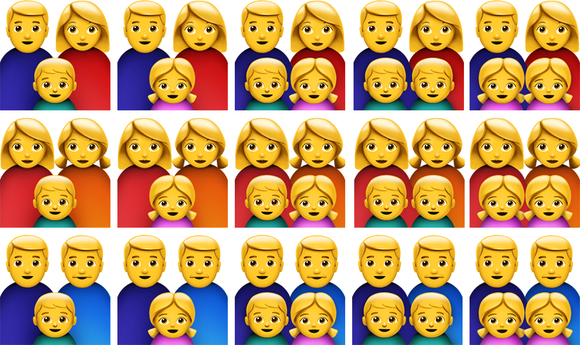 Family emoji png. Apple emojis and its