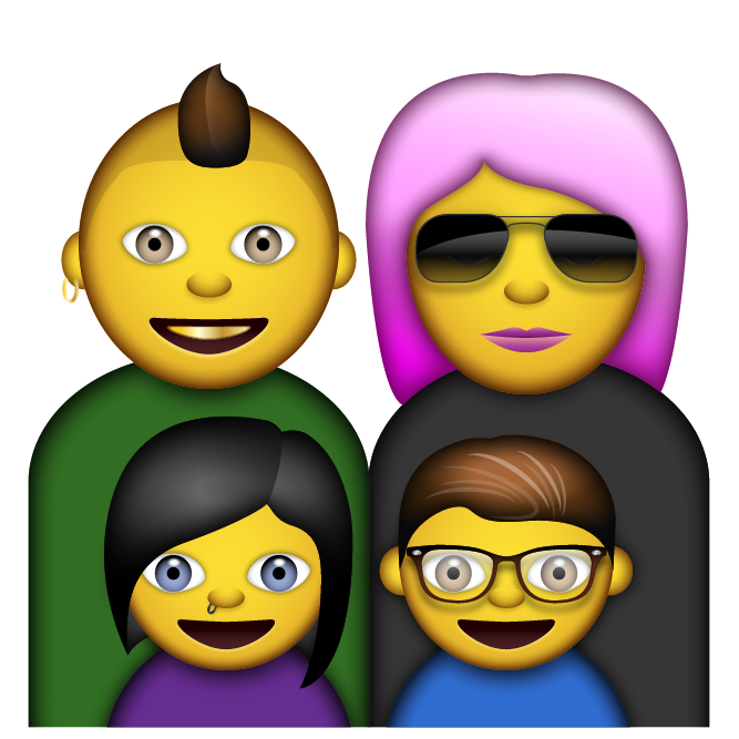 Family emoji png. Emoticon the movie note