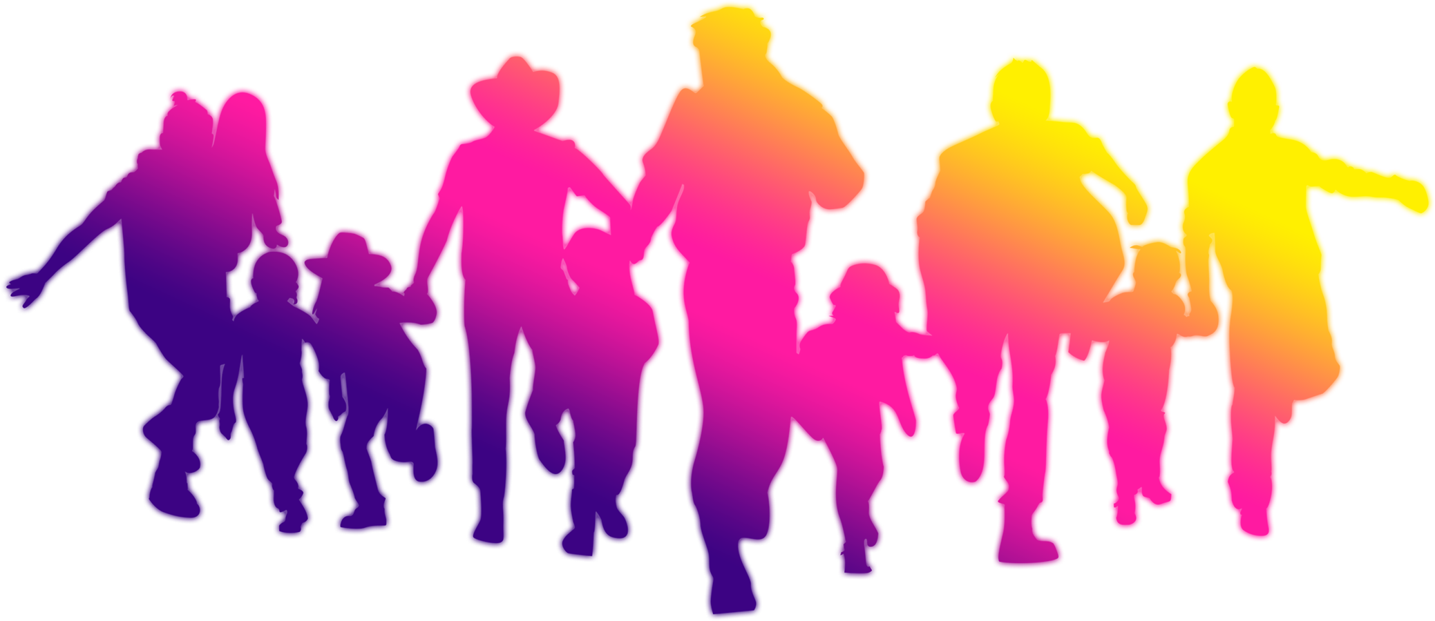 Family fun png. Download icon silhouette decorated