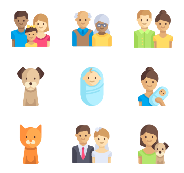 Family photo png. Icon packs vector