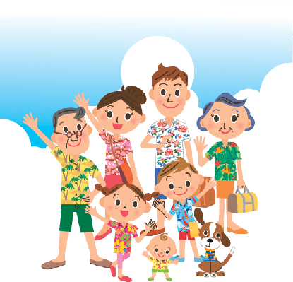 Family png clipart. Trip summer with the