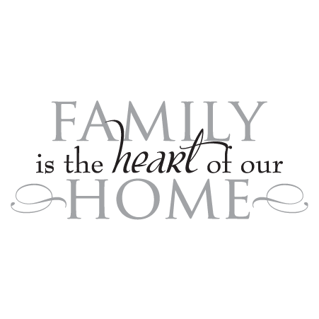 Family quotes png. Heart of home wall