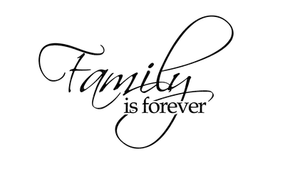 Transparent word family. Kaz creations text is