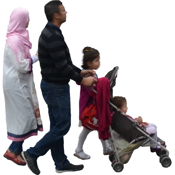 Family walking png. Transparent background free icons