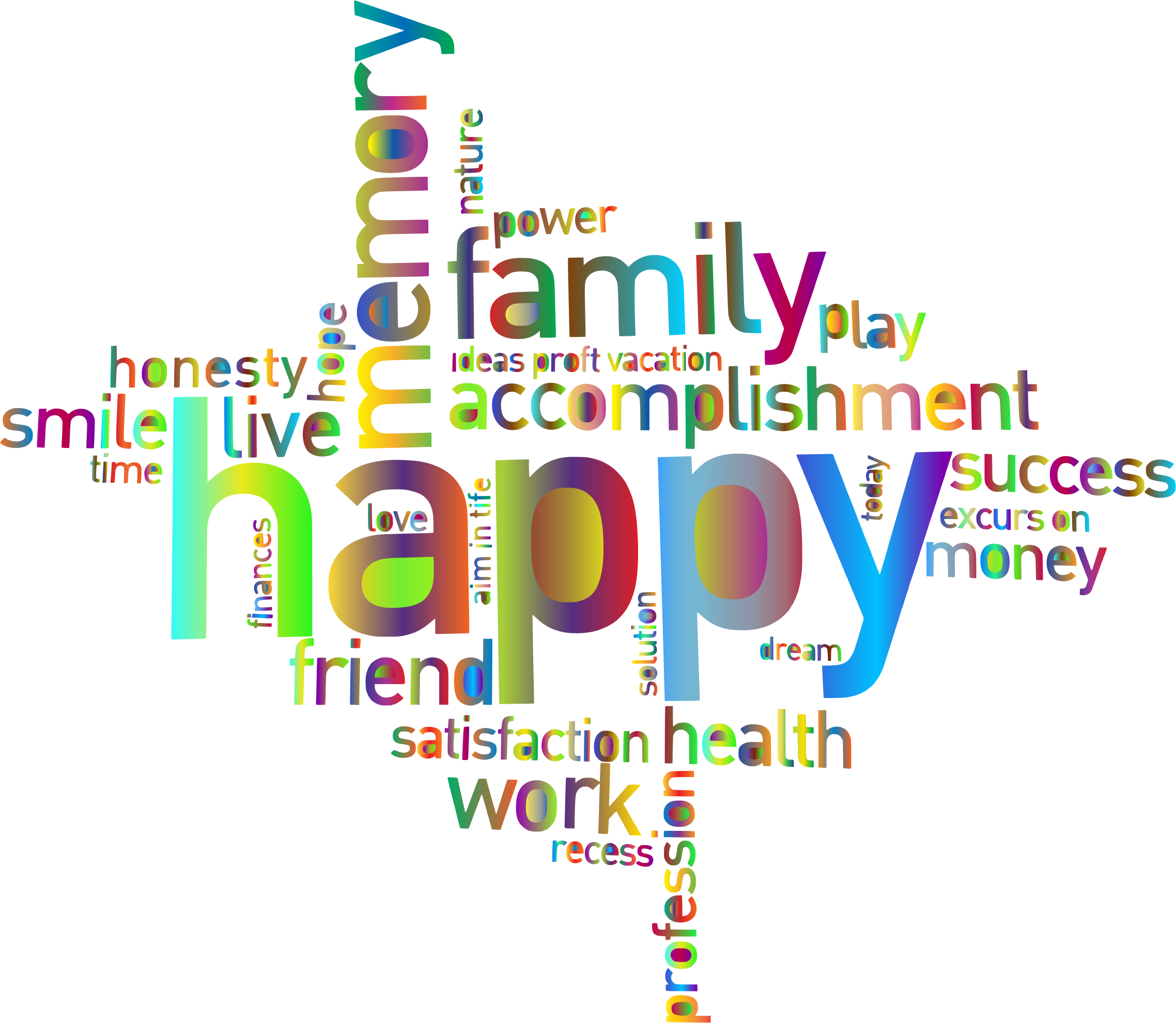 No! png word. Clipart prismatic happy family