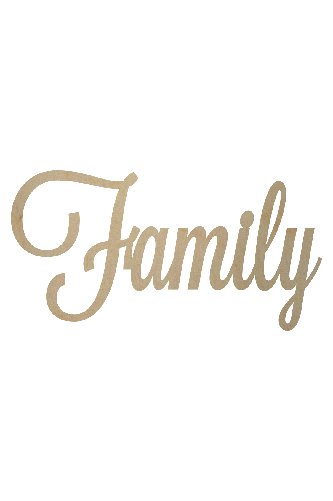 Family word png. Wooden cutout woodencutouts com