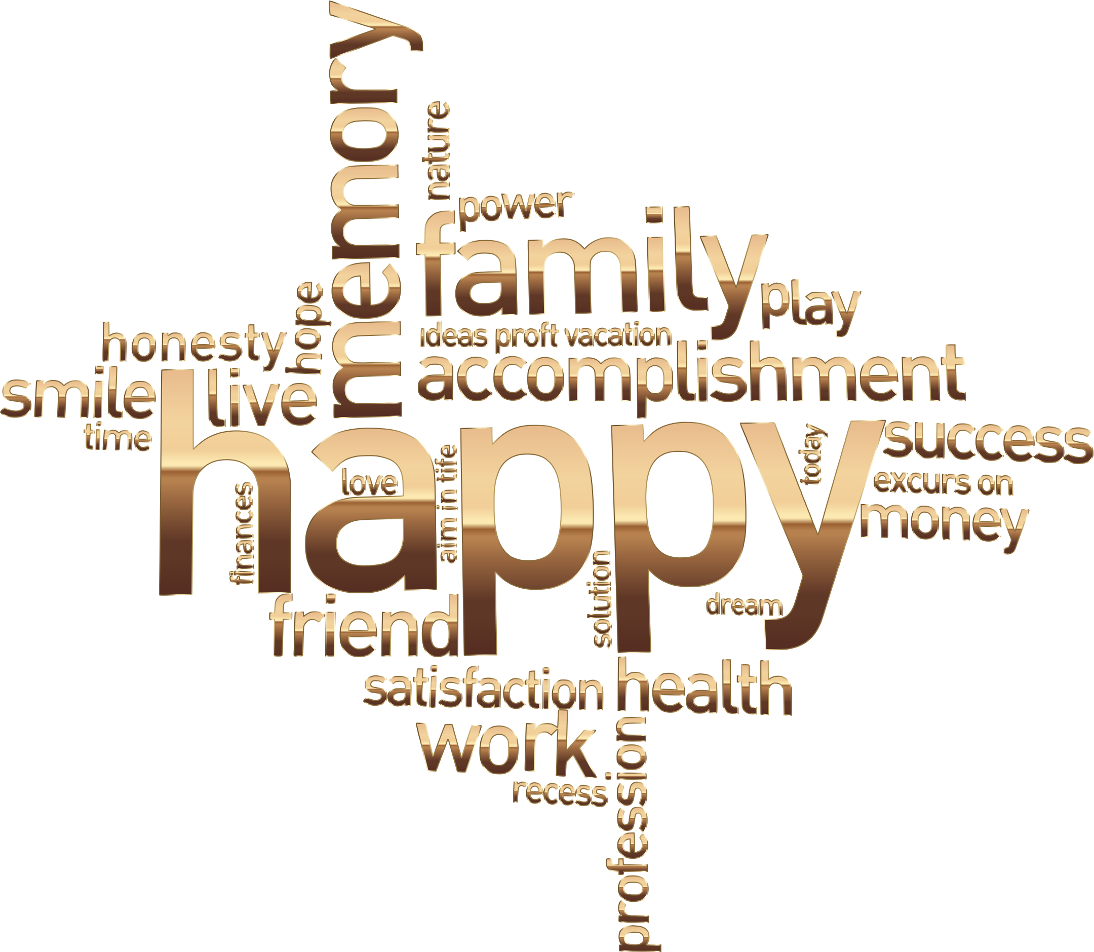 Transparent word family. Happy cloud no background