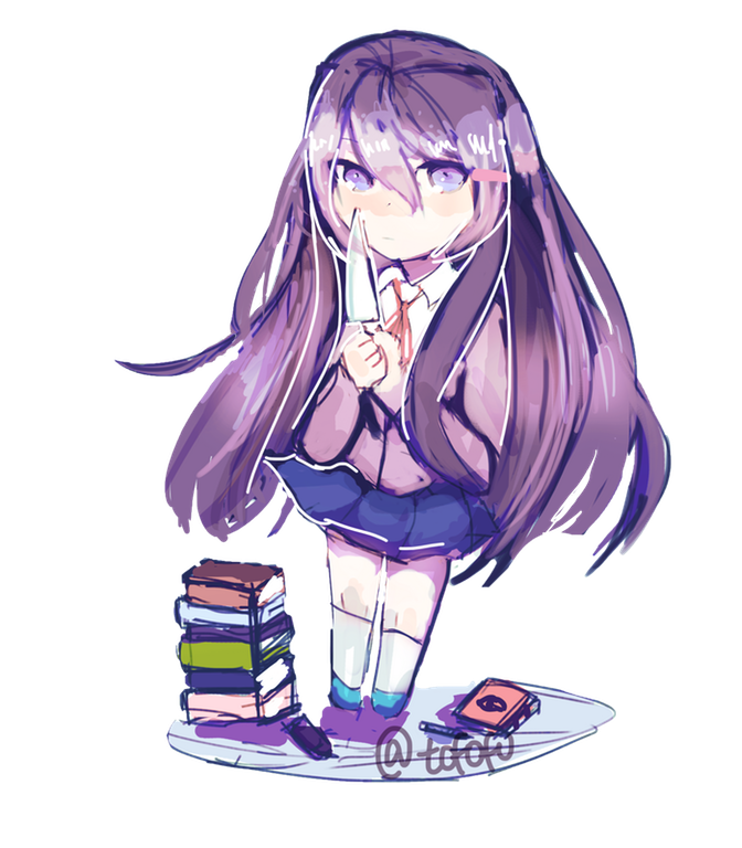 Fanart drawing anime. Fan art doki literature