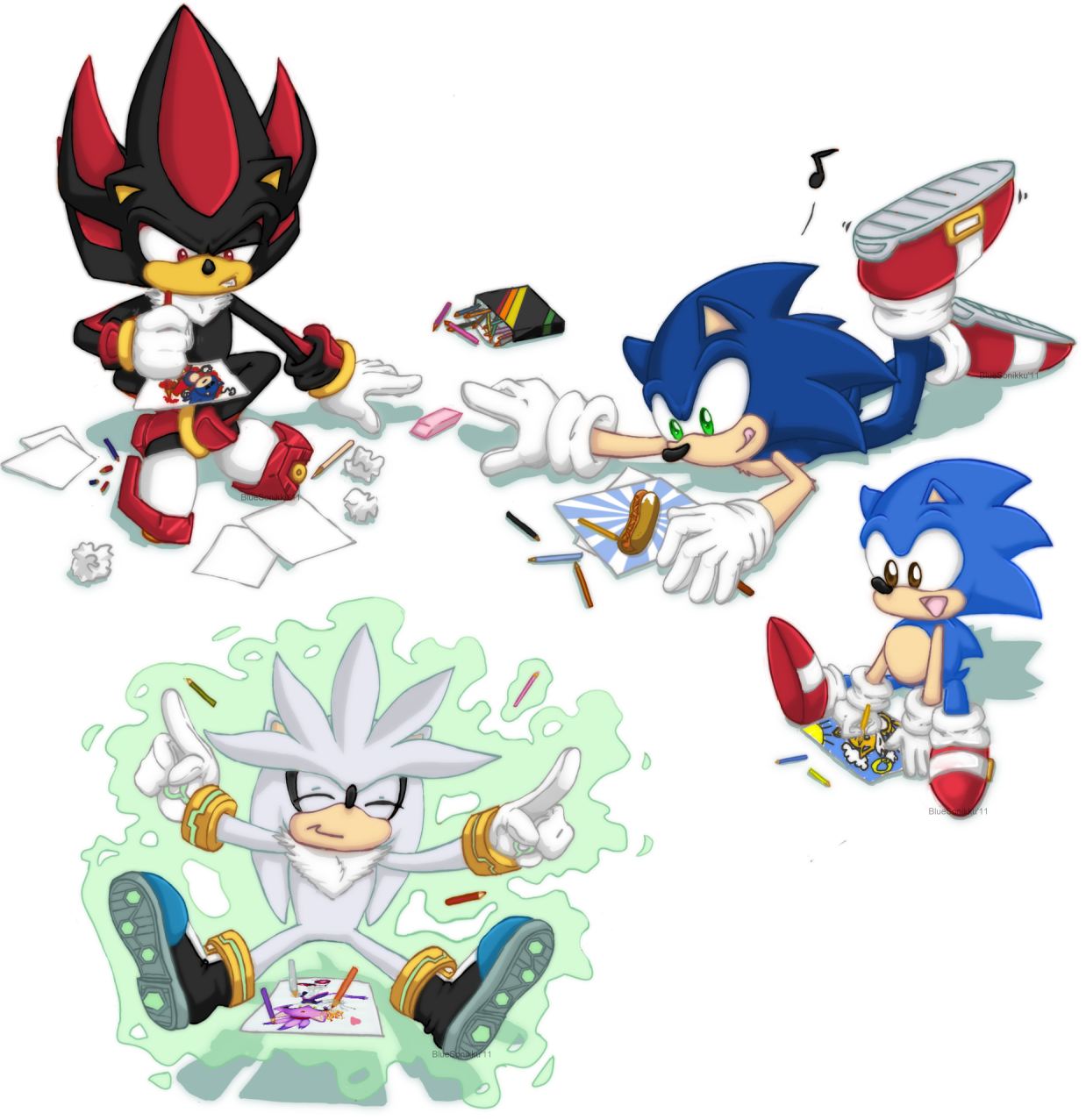 Fanart drawing cute. Sonic the hedgehog images
