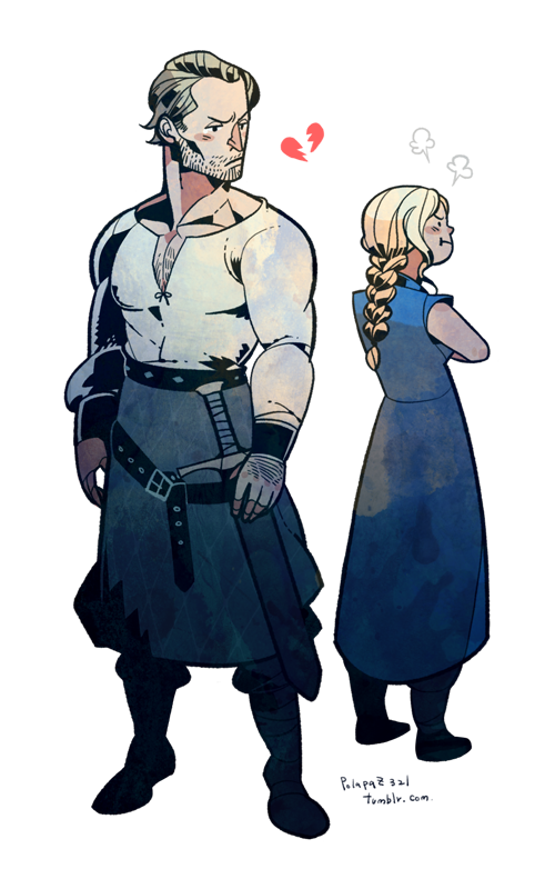 Fanart drawing dany. Jorah and danny by