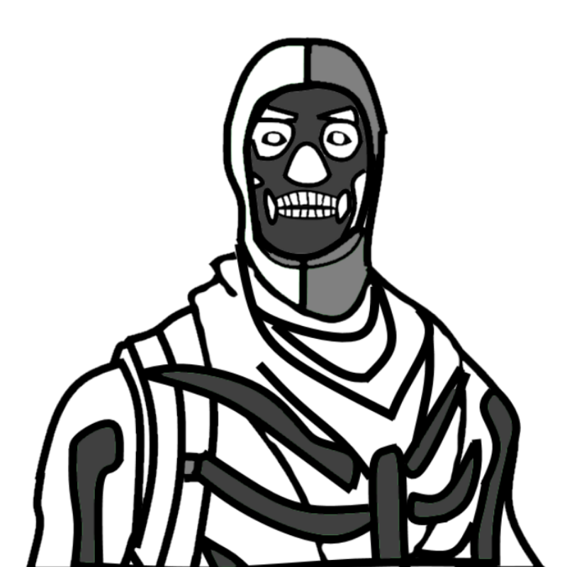 Skull trooper clipart fan art. Reverse fanart fortnitebr skulltrooper