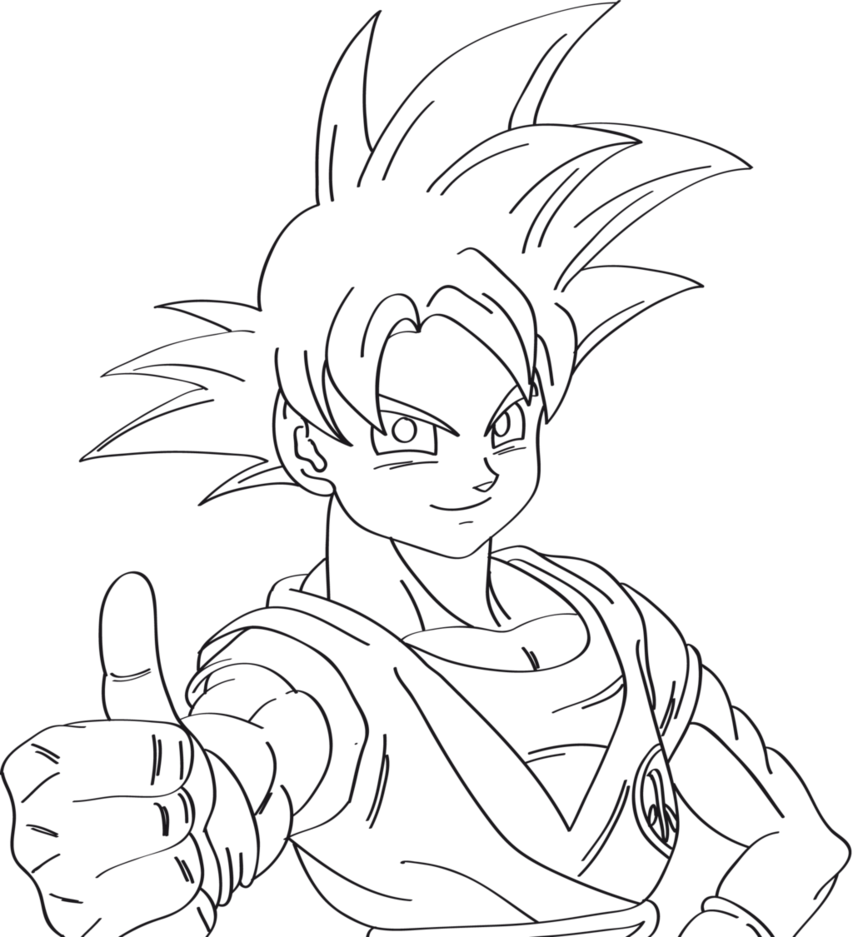 Wetland drawing super. Goku saiyan at getdrawings