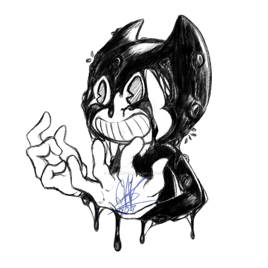 Rip drawing demonic. Bendy the ink demon