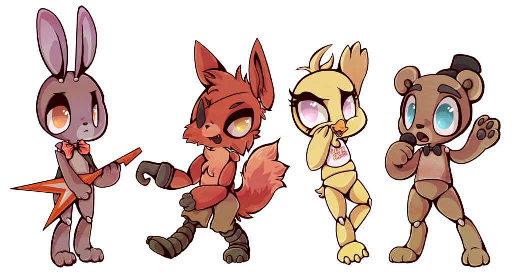 Fanart drawing fnaf. Crew by buizel fur