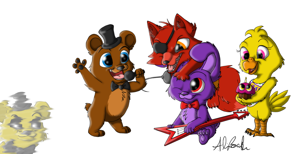 Fanart drawing fnaf. Chibi group by meowimator