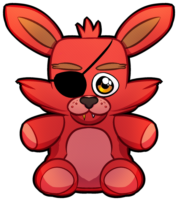 Fanart drawing foxy. Plush sticker by psychohog