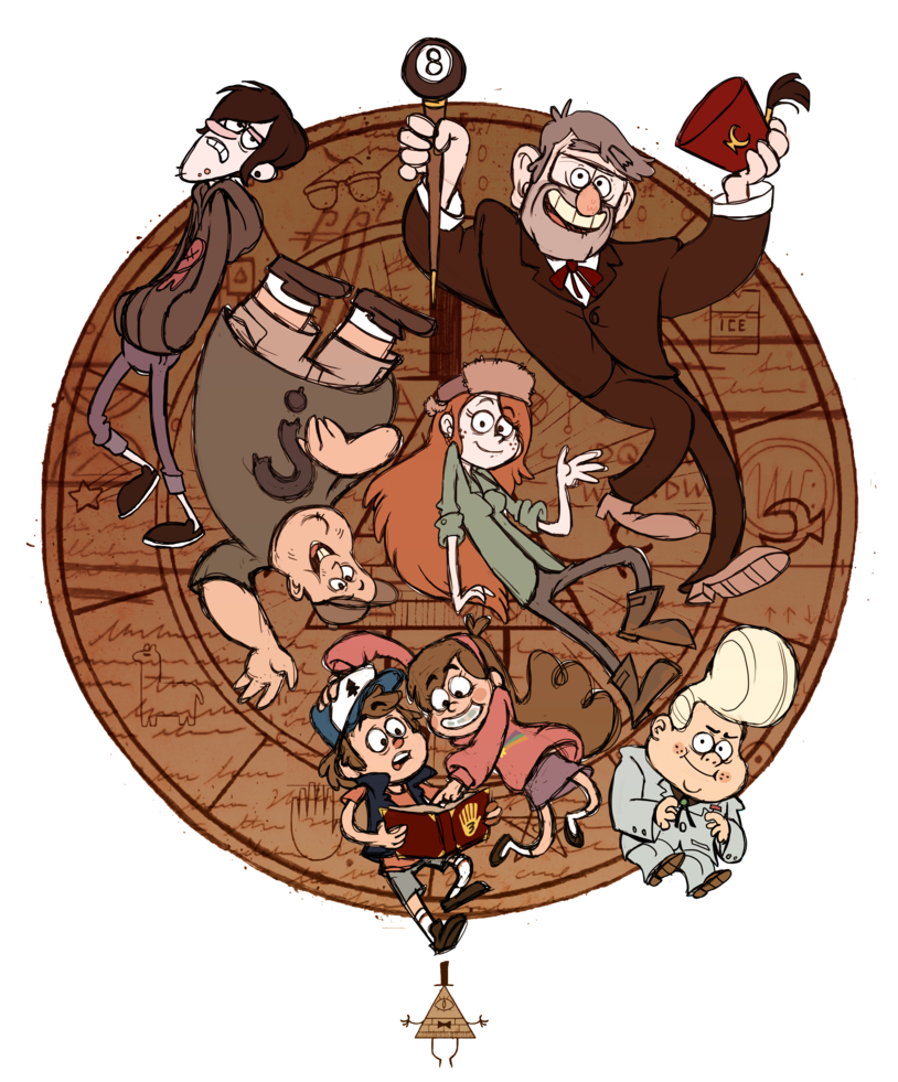 Fanart drawing gravity falls. Welovefine contest by real