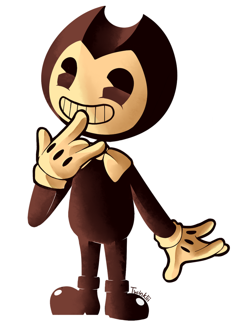 Fanart drawing ink. Bendy and the machine