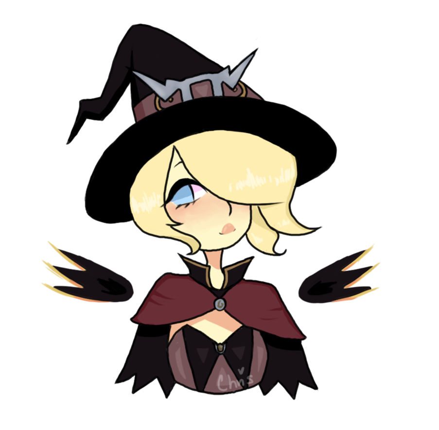 Drawing witch whitch. Mercy by weabunny on
