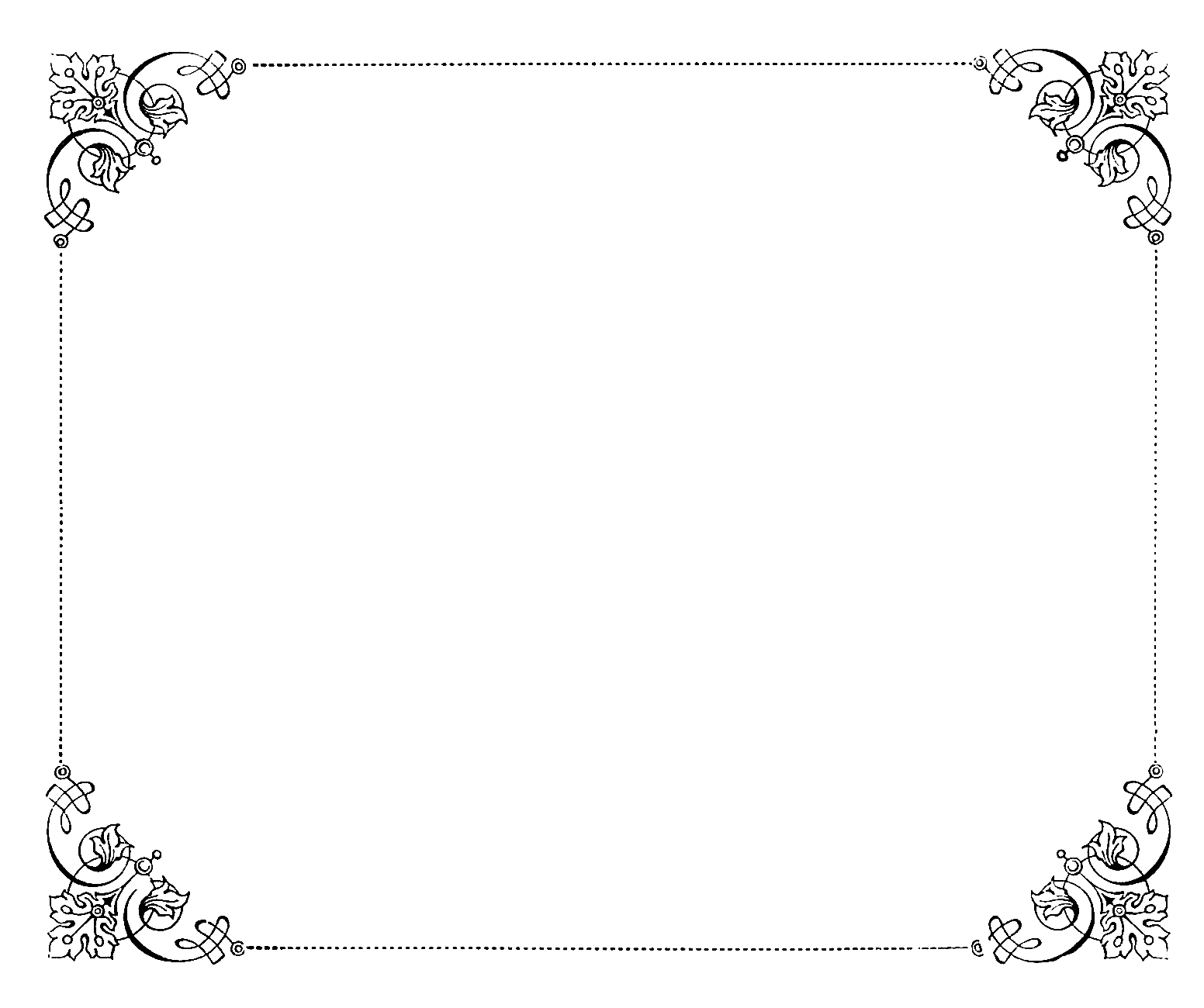Antique frame unique throughout. Fancy black border png vector free library