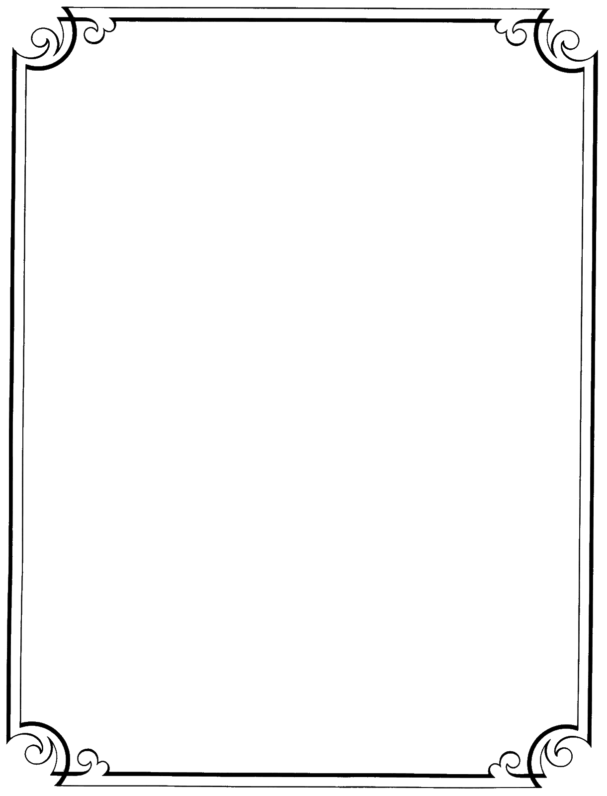 Borders transparent images pluspng. Fancy black border png image library library