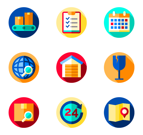 Package vector box. Icons free logistics