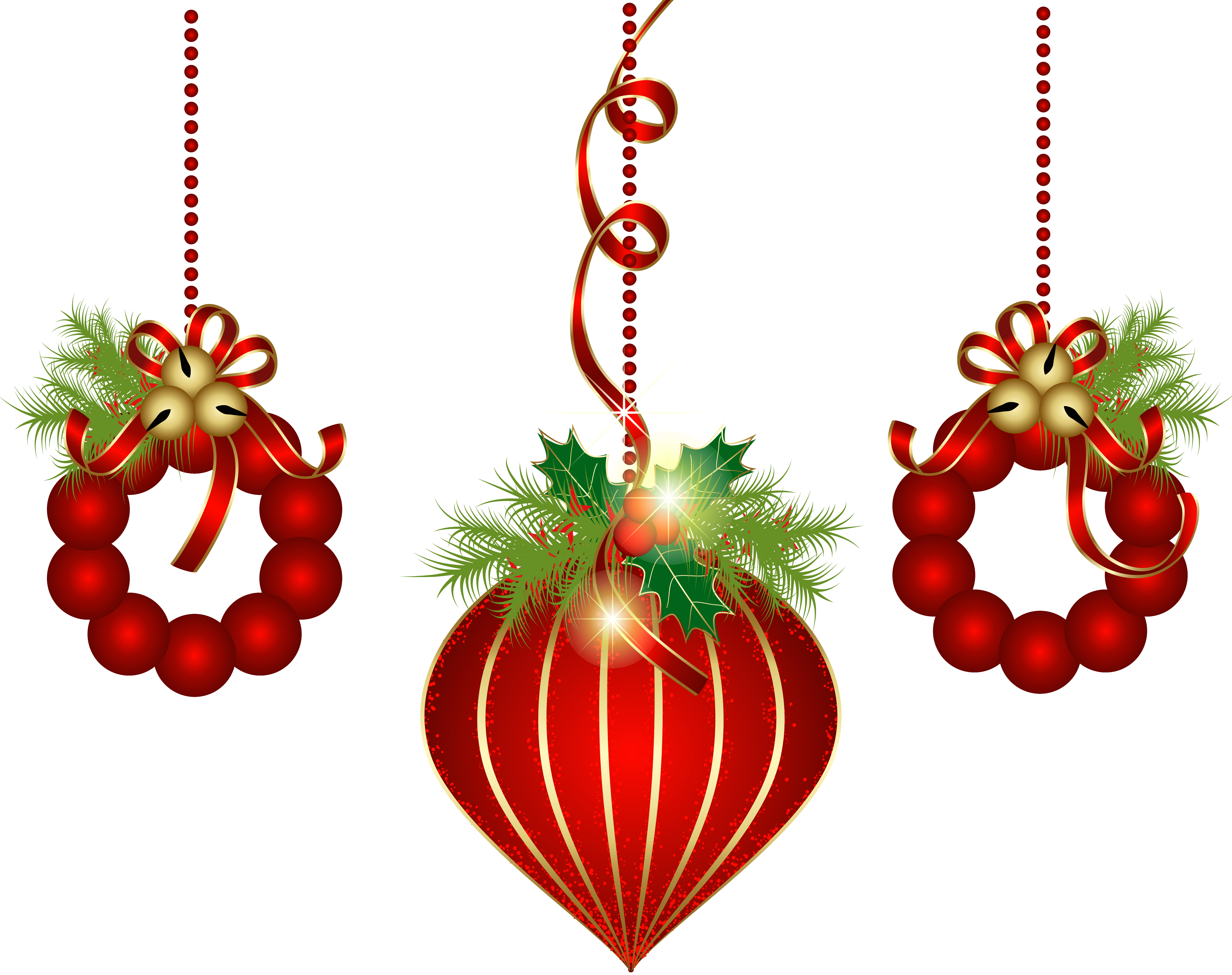 Fancy christmas ornaments background png. Transparent red clipart best