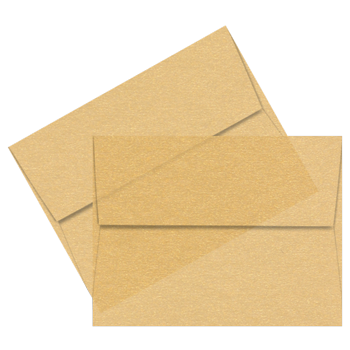 Fancy envelope png. A gold iridescent vellum