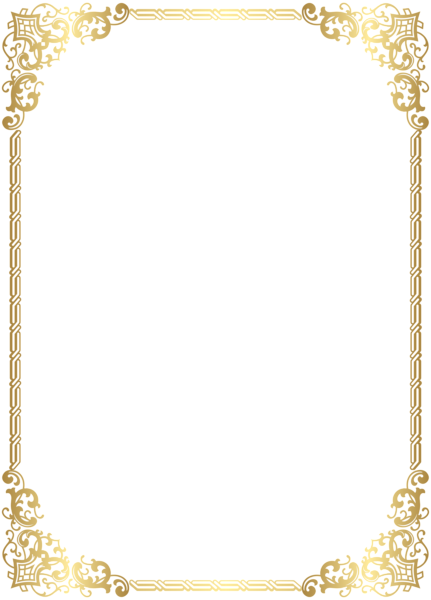 Fancy gold border png. Frame transparent clip art