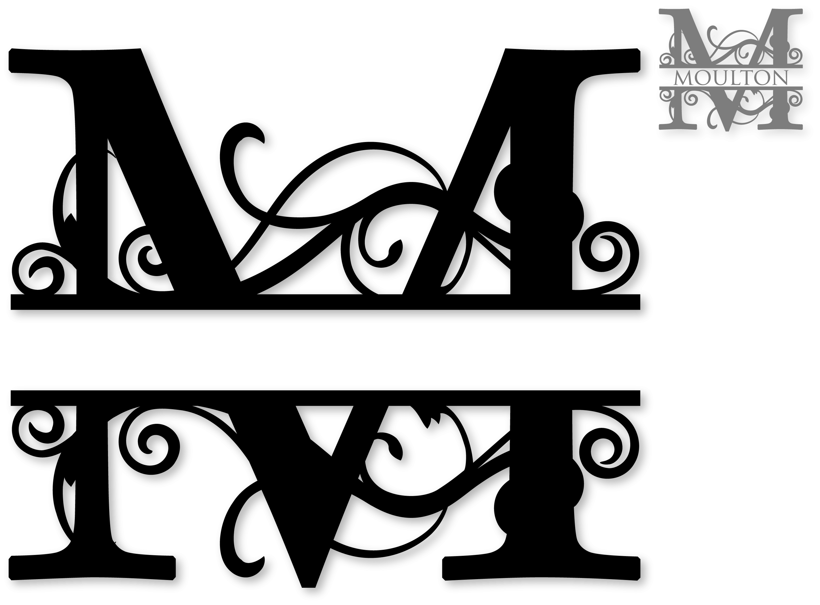Fancy m png. Collection of letter