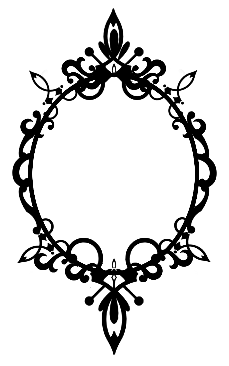 Fancy oval frame png. Ornate cutout by