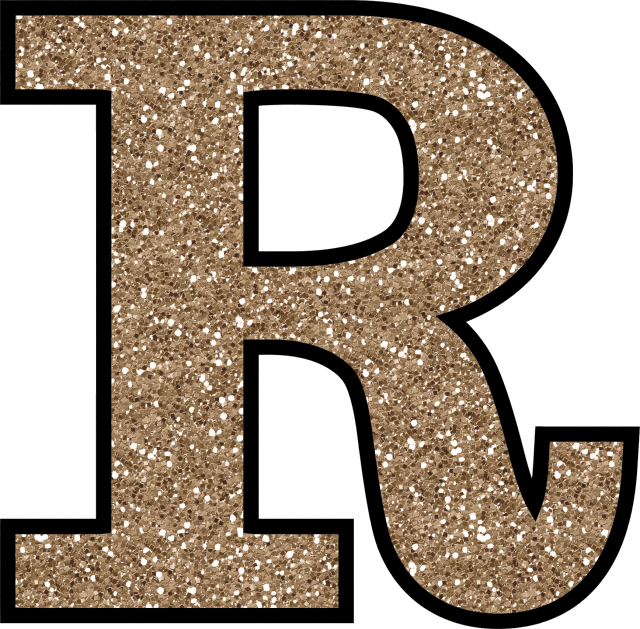 Fancy r letter png. Glitter without the glue