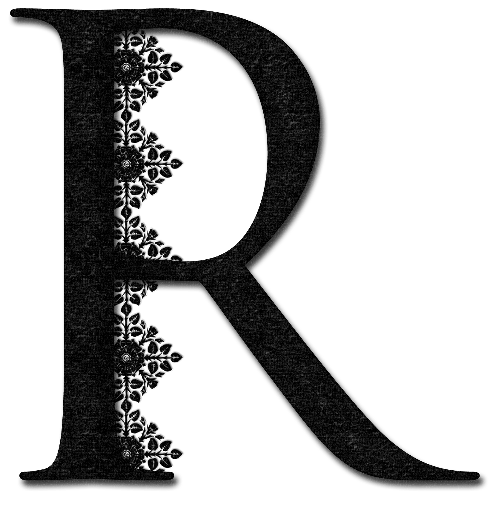 Fancy r letter png. Glamorous lady alphabetically speaking