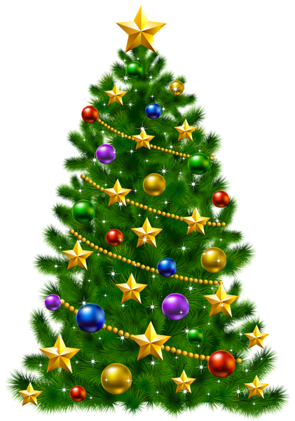 Fancy white christmas ornaments background png. Transparent tree with stars