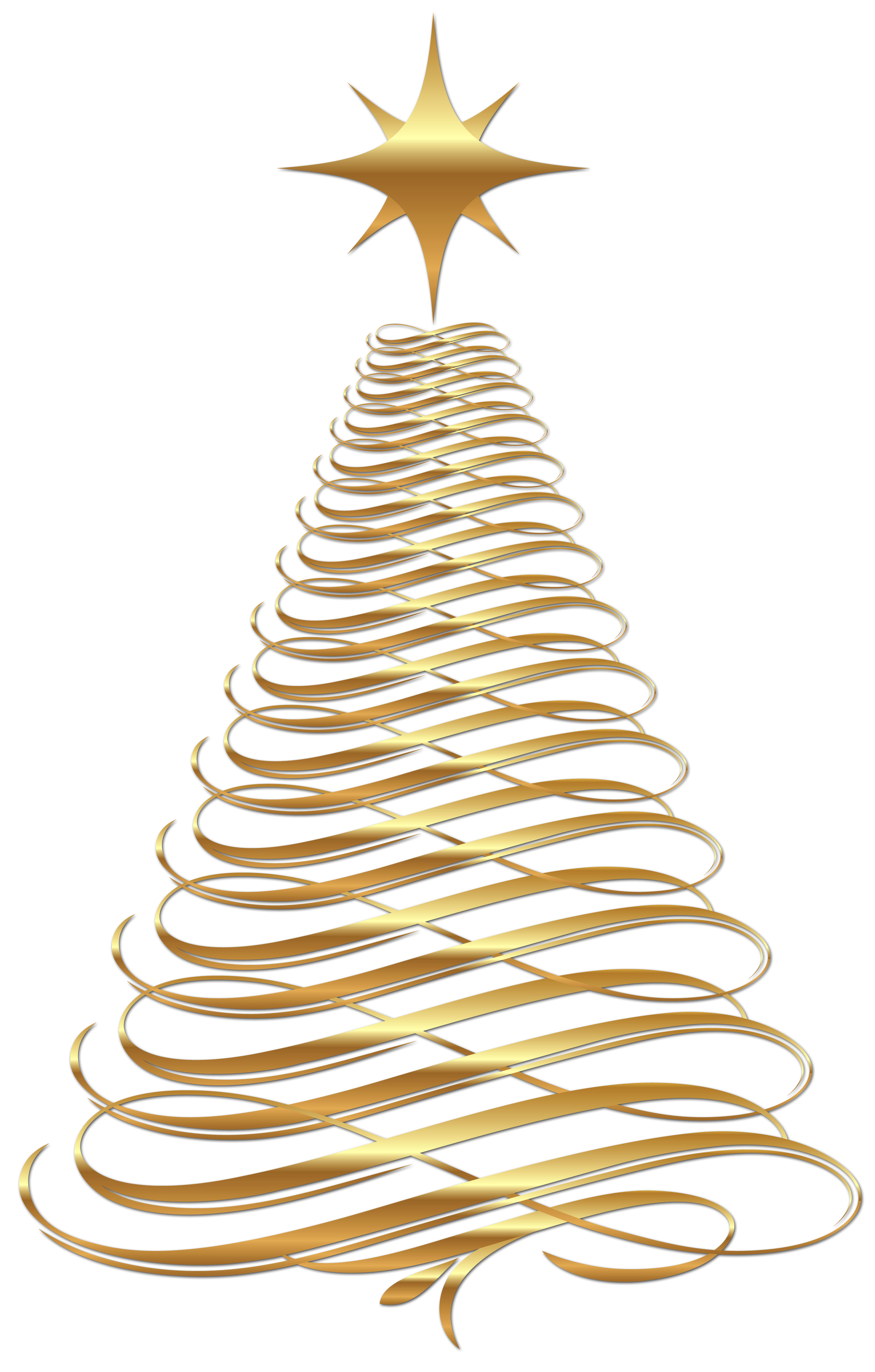 Large transparent gold tree. Embellishment vector christmas vector free library