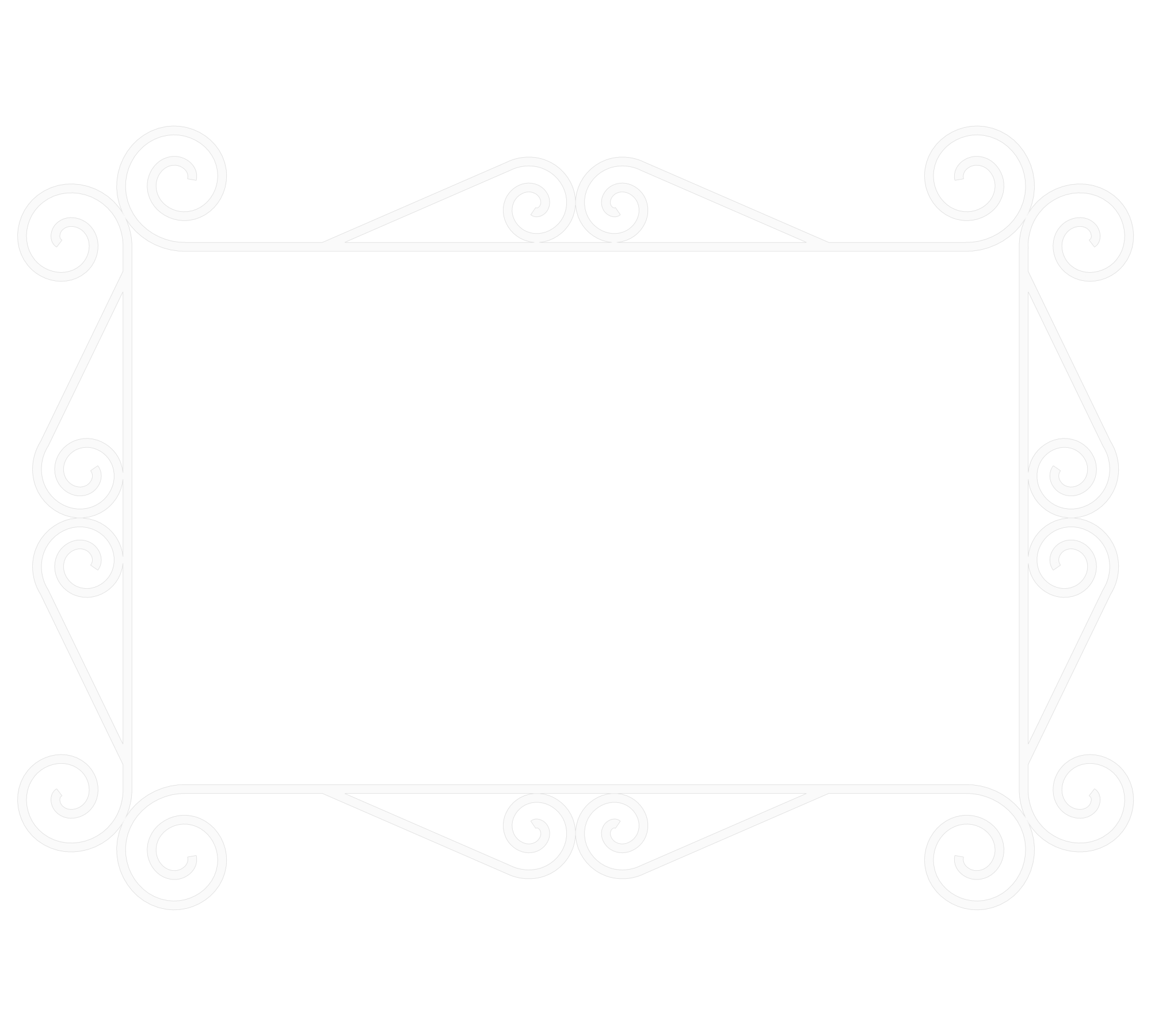 Fancy white line png. Frame by satans comrade