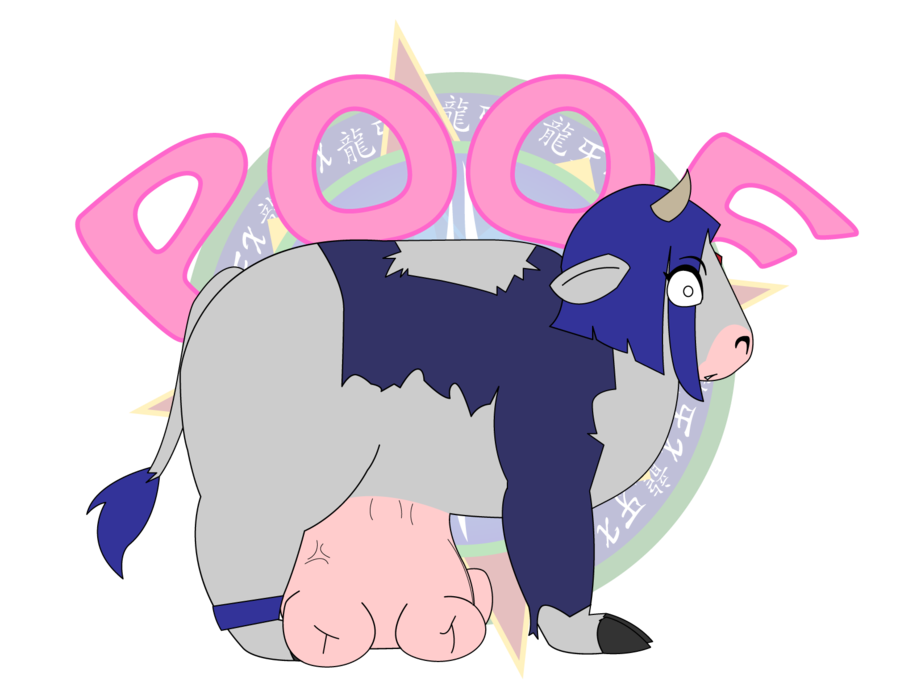 Fang drawing cow. Chain series raven attacked