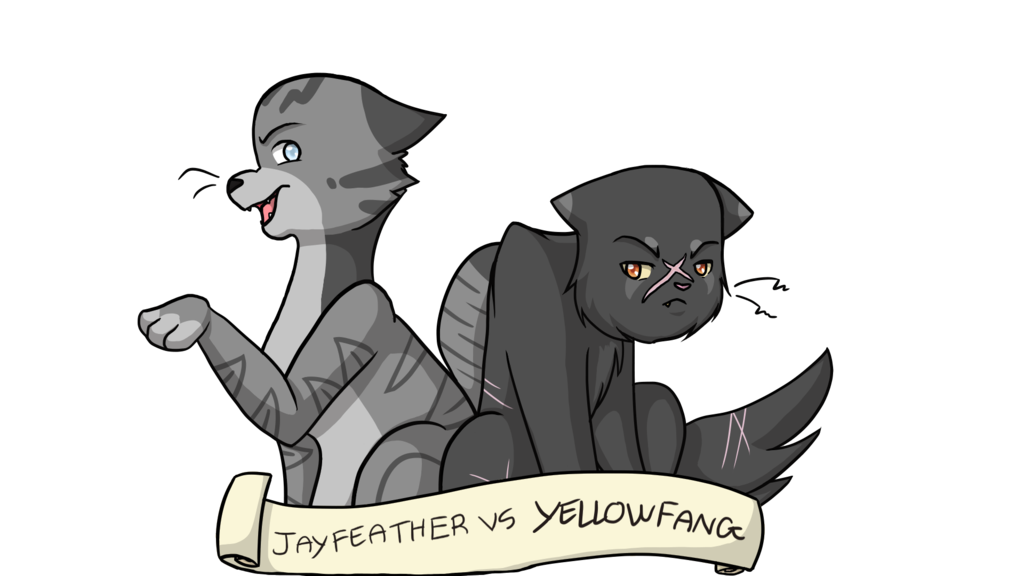Fang drawing creepy. Jayfeather vs yellowfang by
