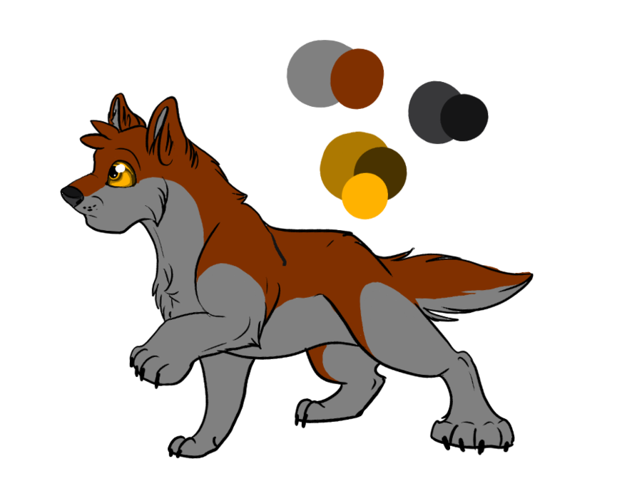 Fang drawing fox. Baby ref by tribble