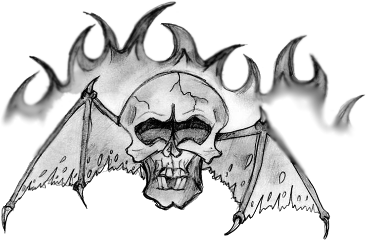 Fang drawing skull. Avenged sevenfold by beth