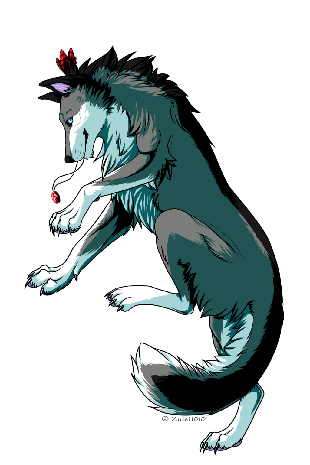 Fang transparent anime wolf. Pcm silver by zulei