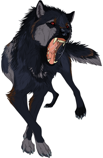 Fang transparent anime wolf. Sketch auction mercy by