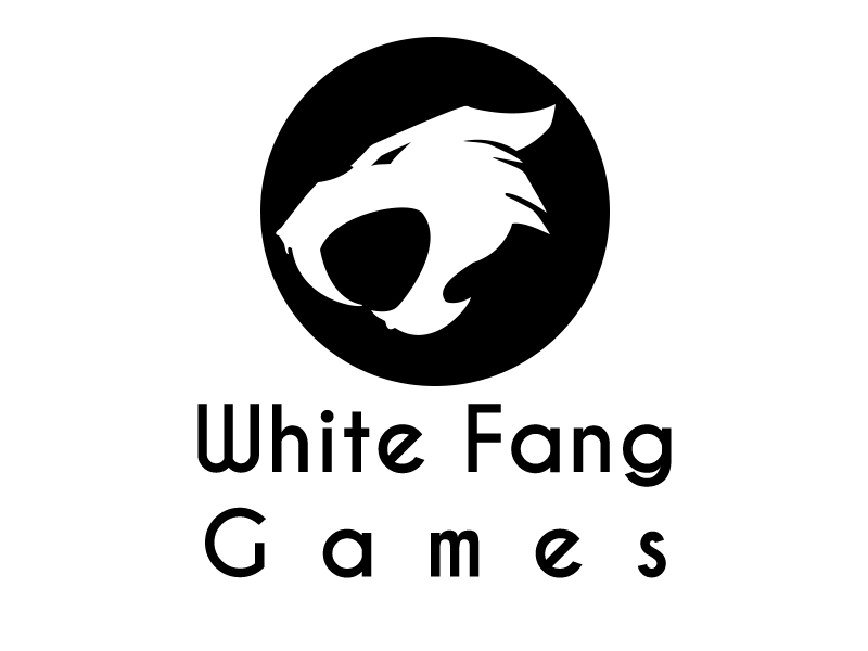 Fang transparent black and white. Games banner