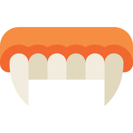 Fangs png. Icon svg