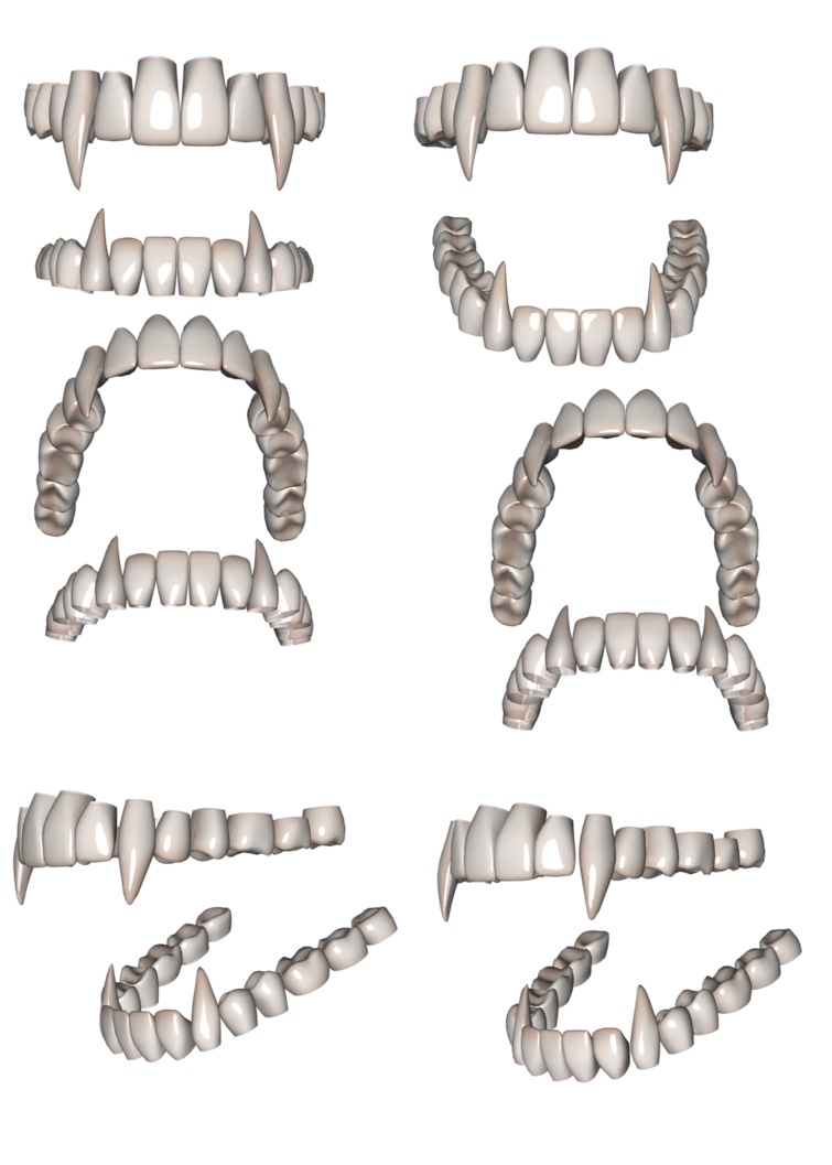 Fangs png. By chaos on deviantart