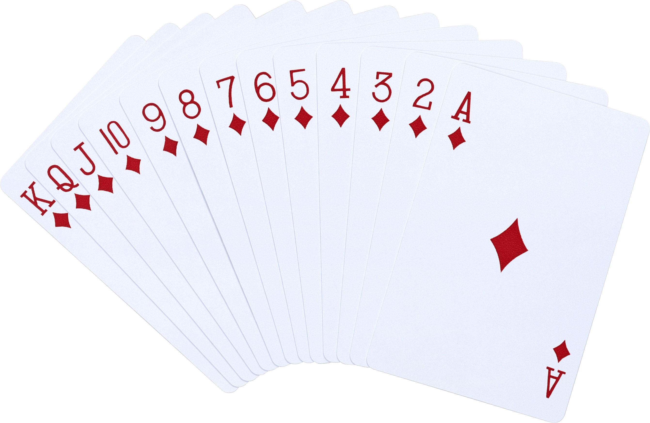 Fanned out cards png. All diamonds transparent stickpng
