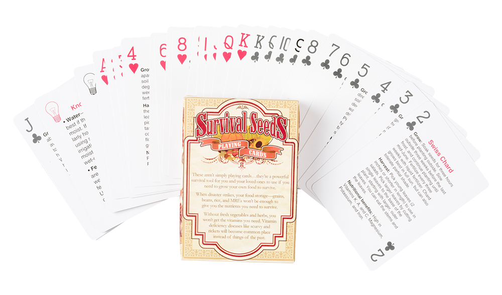 Fanned playing cards png. Survival seeds