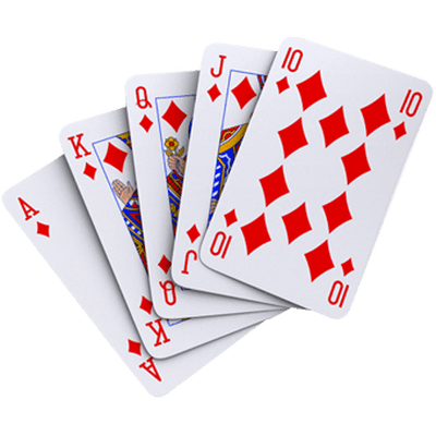 Fanned playing cards png. All diamonds transparent stickpng