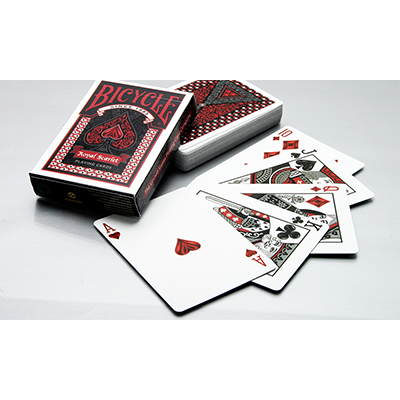 Fanned playing cards png. Royal scarlet bicycle deck